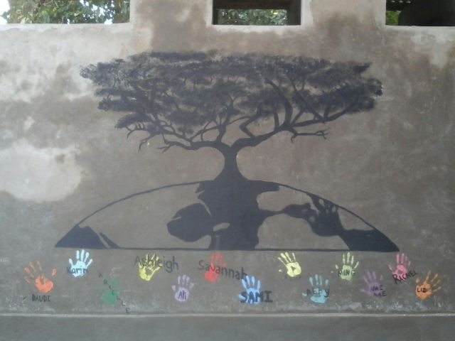 bathroom tree mural