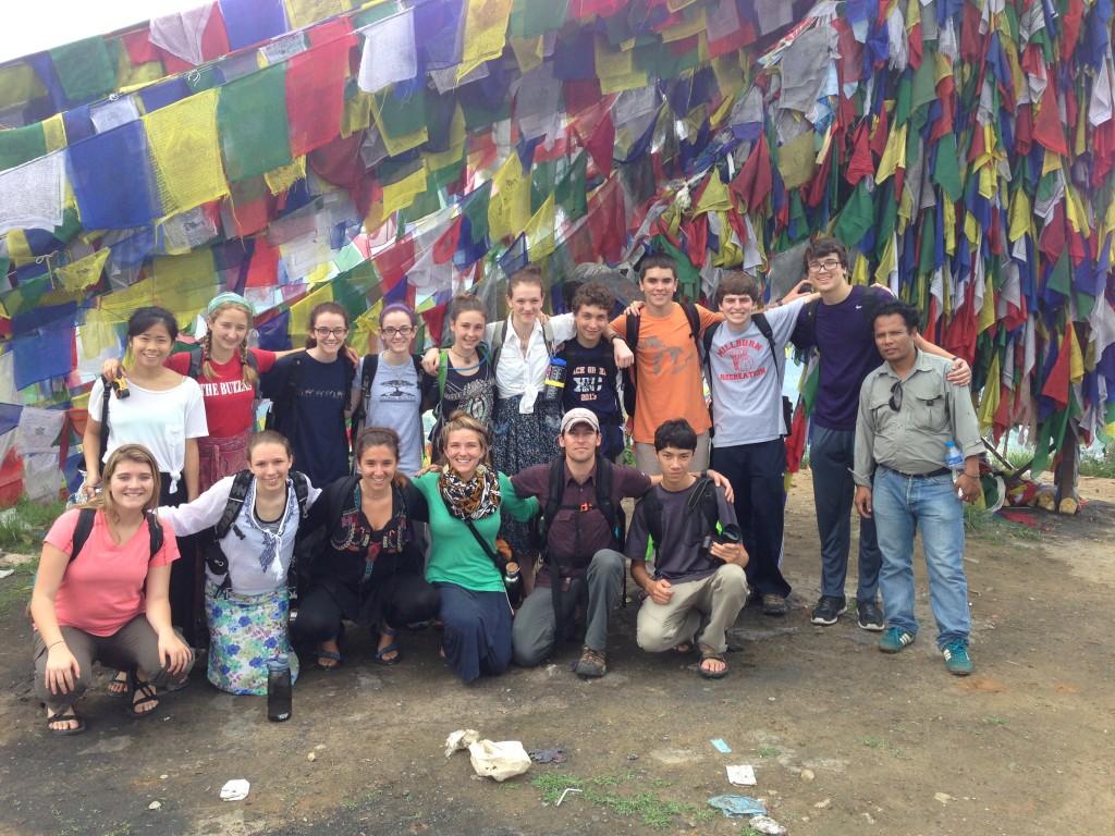 The group with Ratna at Namo Buddha.