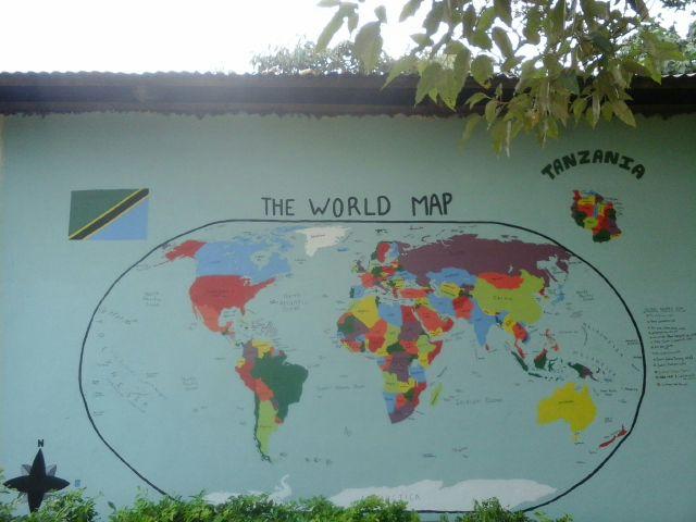 worldmap mural