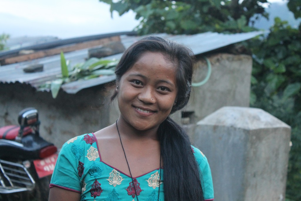 Shanta, Delia's host sister in Okhle, Nepal